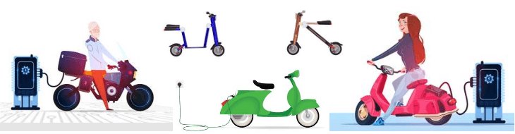 electric scooters and motorbikes